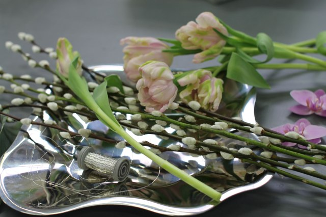 Materiaalimallit työhön teräslautanen, tulppaani, kissat